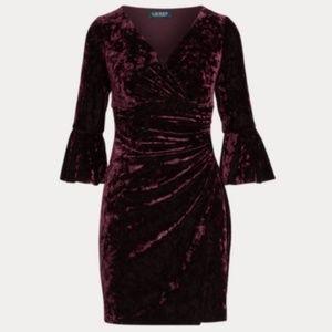 Ralph Lauren Velvet Bell-Sleeve Dress